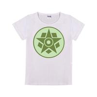 麦田圈图案之五边形与五角星童装纯棉白色T恤