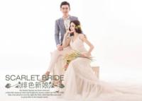 绯色新娘-高档大气婚纱爱情写真(装饰可移动、图片可换)-7寸木版画横款