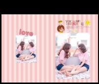 条纹粉色温馨浪漫-15寸硬壳蝴蝶装照片书24p
