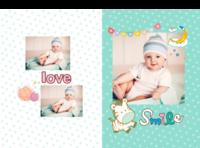 宝贝的微笑--亲子 可爱 萌 甜美-A4硬壳照片书32p