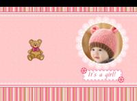 这是一个女孩-我的天使宝贝-宝宝诞生记-宝宝记录册(照片可换)-硬壳精装照片书30p