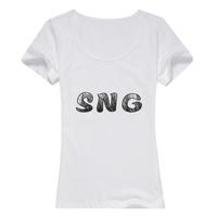 SNG女款精梳棉圆领T恤