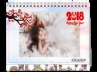 新年快乐 团团圆圆中国年 图文可替换-8寸单面印刷台历