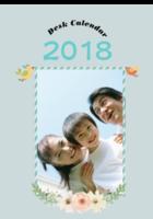 清新复古卡通2018挂历-B2单月竖款挂历