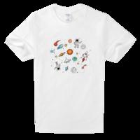 太空舒适白色T恤