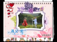 TL520台历情侣婚庆婚纱 恋爱写真 爱情纪念记录-8寸双面印刷台历