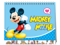 经典卡通-迪士尼disney米奇米妮幸福生活宝宝专享-8寸单面印刷台历