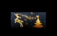 圣诞颂歌-情侣骨瓷白杯