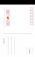 爱的唯一 ONLY LOVE 最爱的你 清新(通用)-全景明信片(竖款)套装