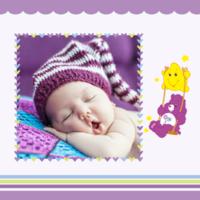 紫色系 快乐宝贝成长的足迹 萌娃亲子写真-8x8双面水晶印刷照片书30p