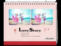 爱情故事-8寸单面印刷跨年台历
