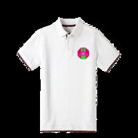 情侣T恤-双拼POLO衫