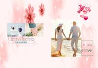 爱的记录,永恒的爱情,永远的陪伴。恋人,情侣-8x12高清绒面锁线56p