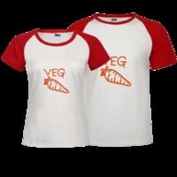 食物简笔画-红萝卜-时尚插肩情侣装t恤