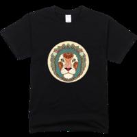 狮子座舒适彩色T恤