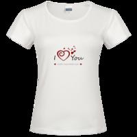 甜美爱情送给最爱的你时尚修身纯棉T恤女款