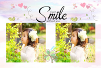幸福微笑  快乐生活 儿童写真 图文可替换-6寸横款定制相框台历