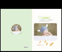 时间盒子-亲子 儿童 宝宝 百天 周岁纪念相册-15寸硬壳蝴蝶装照片书32p
