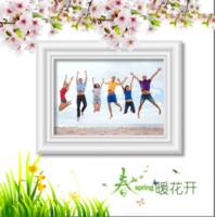 春暖花开-精美高档PU照片书10x10