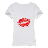 忘不了母版-女款纯棉白色T恤