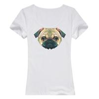 沙皮狗--缤纷一夏母版-女款精梳棉圆领T恤