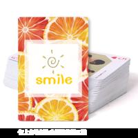 微笑 西柚与橙子  纪念礼物-双面定制扑克牌