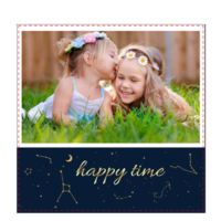 幸福时光 happy time一个快乐的儿时记忆 我的快乐 美丽星空世界-6x6骑马钉画册