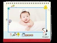 可爱卡通装饰-亲子全家福写真爱情通用模板-10寸双面印刷台历