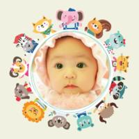卡通动物乐园 可爱萌娃成长记 快乐宝贝美好童年-8x8双面水晶银盐照片书30p