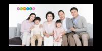 全家福幸福快乐家族大合影-15x30cm拉菲版画 横款