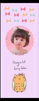 原创 卡通系列 多色款宝贝照片书签 永恒珍藏lovely baby(girl粉色款)-定制单面书签