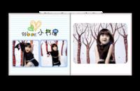 最新儿童相册模板{我的小书房}系列-贝蒂斯8X8照片书