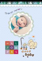 我心爱的小宝贝-开心快乐健康成长-成长足迹-A3挂历