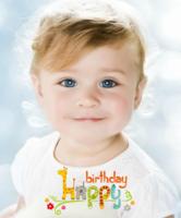 生日快乐(图片可换、装饰可移动)-12X10寸木版画竖款