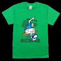 滑板舒适彩色T恤