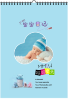 宝宝日记(宝宝家人)-A3双月挂历