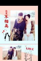 白首不分离(我们的爱情)--情侣 情人节 蜜月旅行 潮流-印刷胶装杂志册26p(如影随形系列)