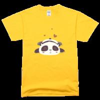 可爱的熊猫舒适彩色T恤