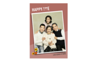 【幸福时光-全家福】(图文可换)清新、时尚-8x12印刷单面水晶照片书20p