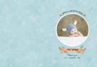 可爱宝贝(蓝色男宝款)-B5定制胶装道林笔记本