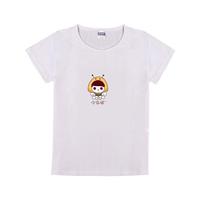 亲子么么哒T恤可爱童装纯棉白色T恤