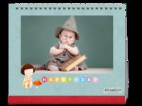 happy宝贝-萌娃-照片可替换-10寸双面跨年台历