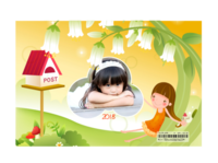 可爱卡通精灵花仙子-亚克力台历