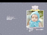 宝贝的小小童年-成长纪念册-硬壳对裱照片书20P