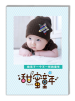 甜蜜童年-萌娃-亲子-照片可替换-A4杂志册(40P)