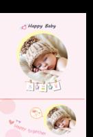 快乐宝贝,宝宝成长册,亲子册,满月册,全家福-印刷胶装杂志册26p(如影随形系列)