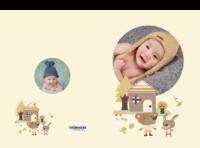 卡通小熊-宝贝成长录#-硬壳精装照片书22p