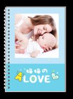 妈妈的love 爱的礼物 亲子宝贝成长纪念816-A5笔记本定制