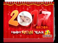宝贝的快乐—2017 家庭 亲子 儿童成长纪念-8寸双面印刷台历