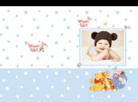 小熊维尼宝宝成长纪念册-硬壳对裱照片书30p